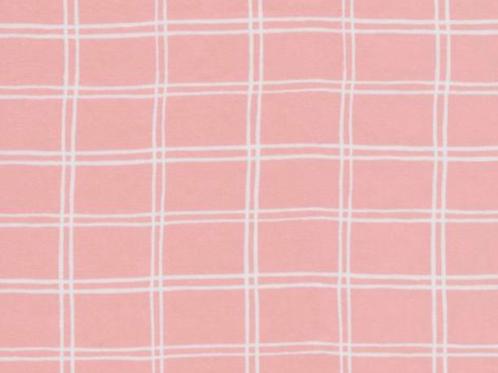 Organic Cotton Sateen Fabric by the half yard- pink- Cloud9
