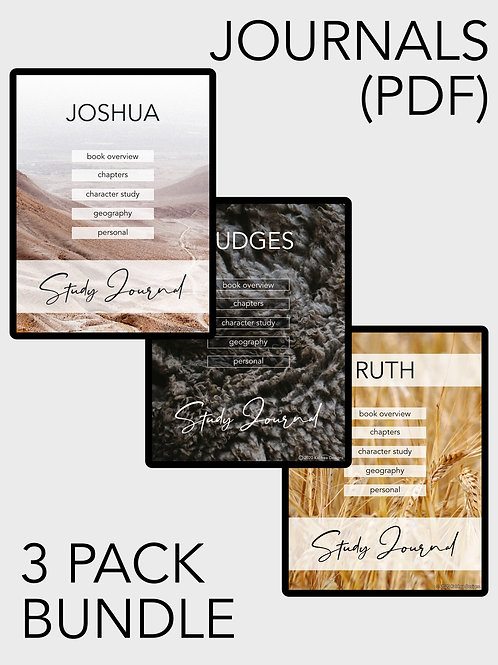 Joshua-Ruth Bible Study Journal PDF pack