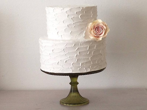 fake cake rustic palette finish two tiers by simply sweet shop