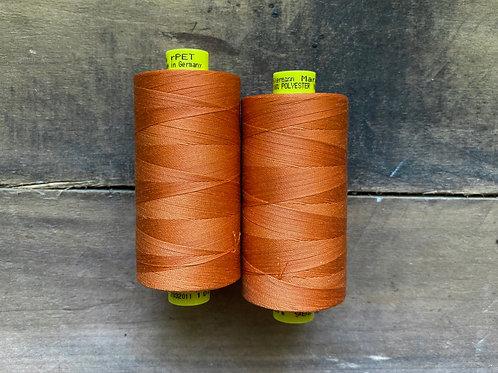 Gutermann Mara 100 rPet Recycled Polyester Thread Burnt Orange