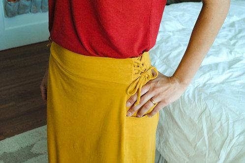 Organic Cotton or Hemp Eden Skirt, Midi to Maxi