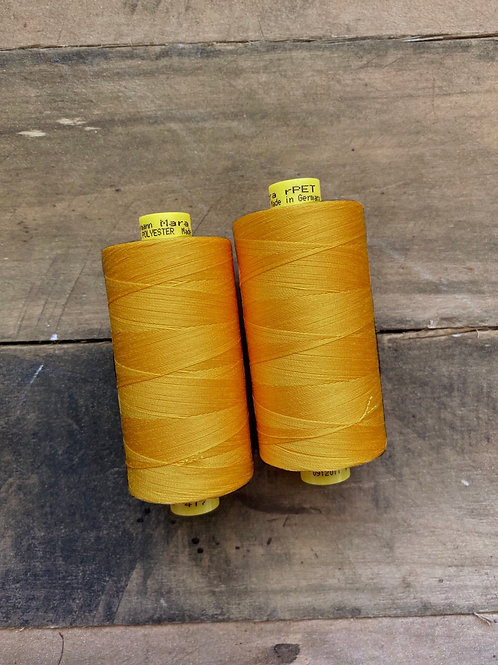 Gutermannn Mara 100 rPet Recycled Polyester Thread Marigold Yellow