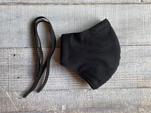 Black Kona Cotton Face Mask