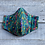 Thumbnail: Tassels Teal Organic Cotton Poplin Face Mask