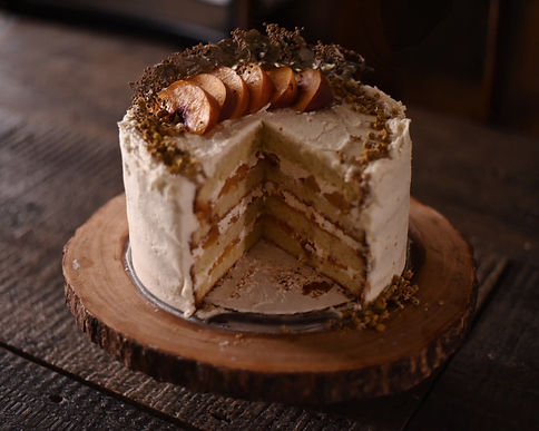 peach chamomile cake by Simply Sweet Shop