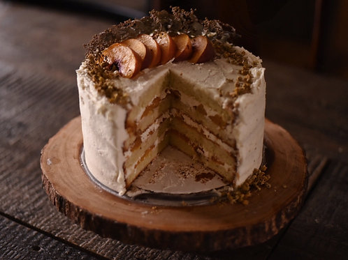 peach chamomile honey cake by simply sweet shop