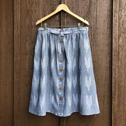 Linen gathered skirt