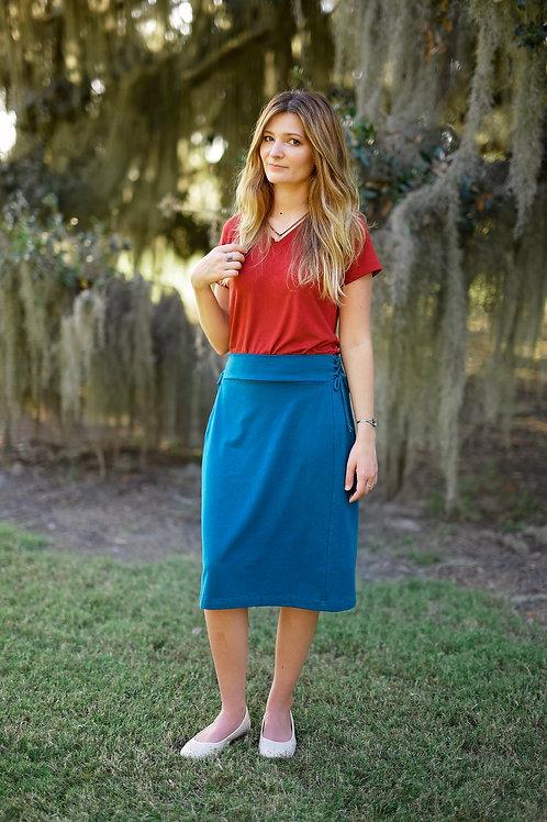 Organic Cotton or Hemp Eden Skirt Below the Knee