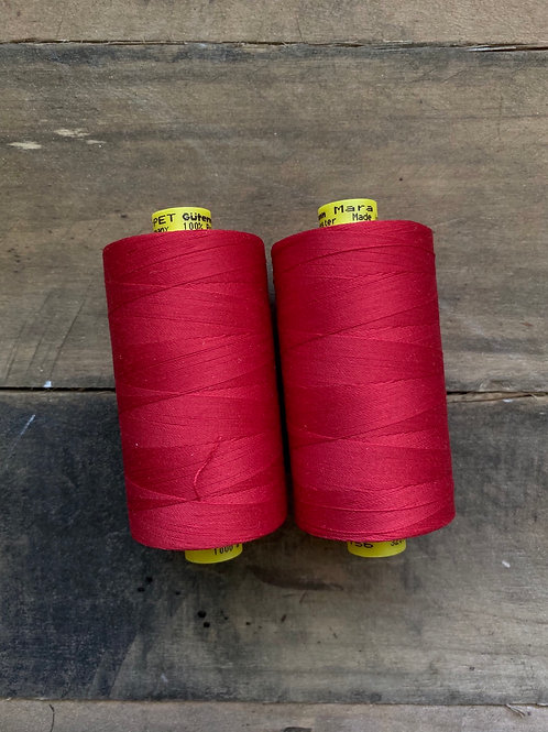 Recycled Polyester Thread- Gutermann Mara 100 rPet-Red