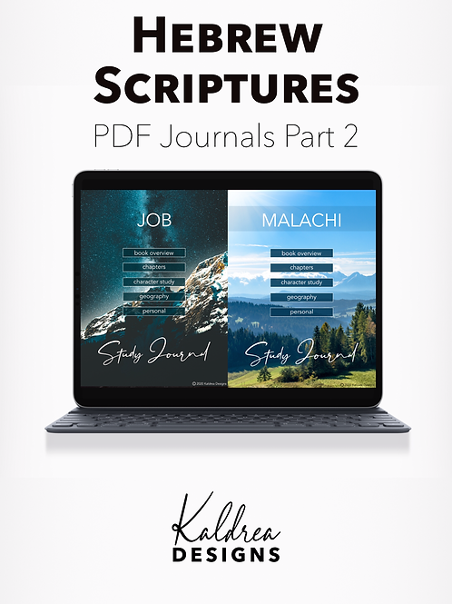 Job-Malachi Bible Study Journals PDF