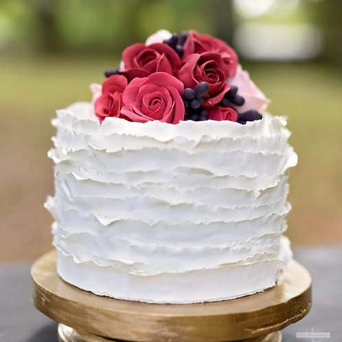 fake cake ruffle finish one tier by simply sweet shop
