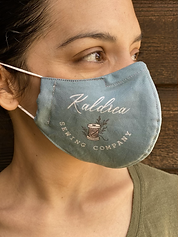 logo face mask kaldrea sewing company