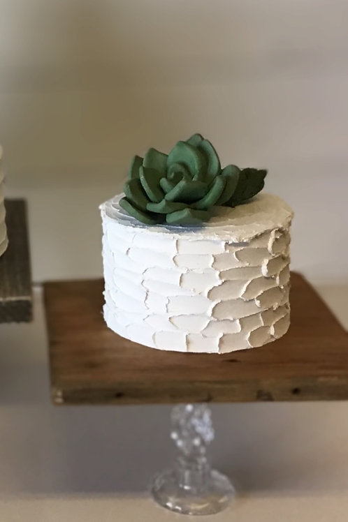 one tier fake cake rustic finish by simply sweet shop