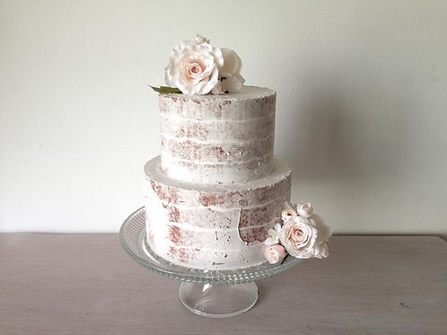 fake cake naked finish two tiers by simply sweet shop