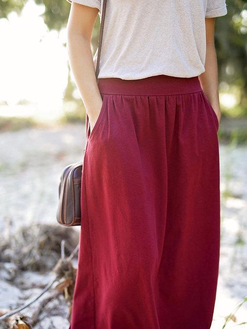 Organic Cotton or Hemp Eva Skirt Midi to Maxi