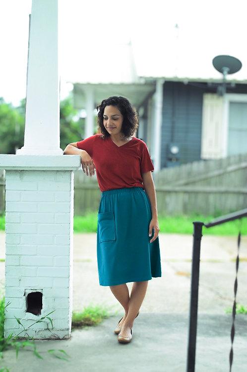 Organic Cotton Jersey Evelyn Skirt