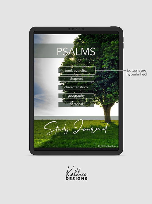 Psalms Study Journal PDF with hyperlinks