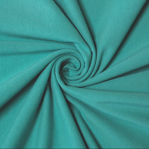 Organic Cotton Jersey Knit- Aloe Blue Green- Birch Fabrics- by the half yard