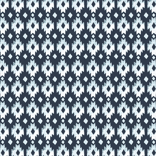 Organic Cotton Poplin by the half yard- Aztec- Monaluna