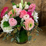 Pretty spring blooms in a stylish angled