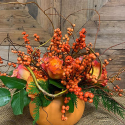 #thanksgivingafds  winterberry and roses