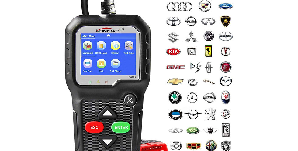 Konnwei KW680 OBD 2 Scanner | Auto Diagnose