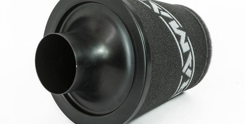 70mm OD Neck - Medium Black Aluminium Base Cone Filter - JS-175-70-BK