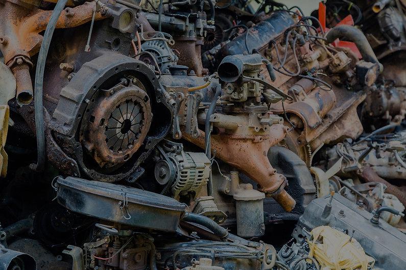 scrap metal in a scrap yard