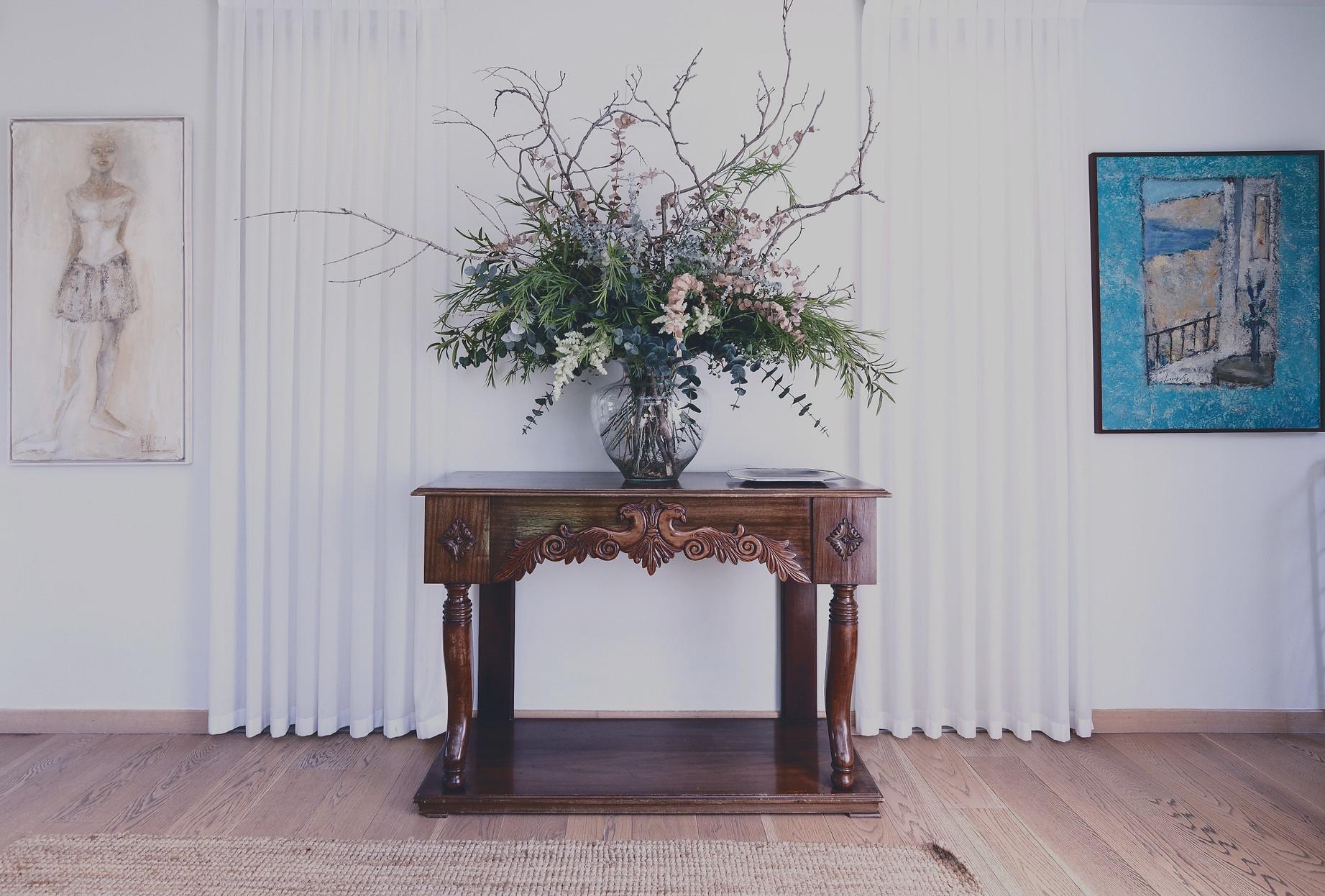 restored brown ornate table