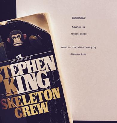 Skeleton Crew book and Beachworld script