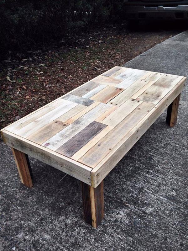 Mesa tablas superpuestas