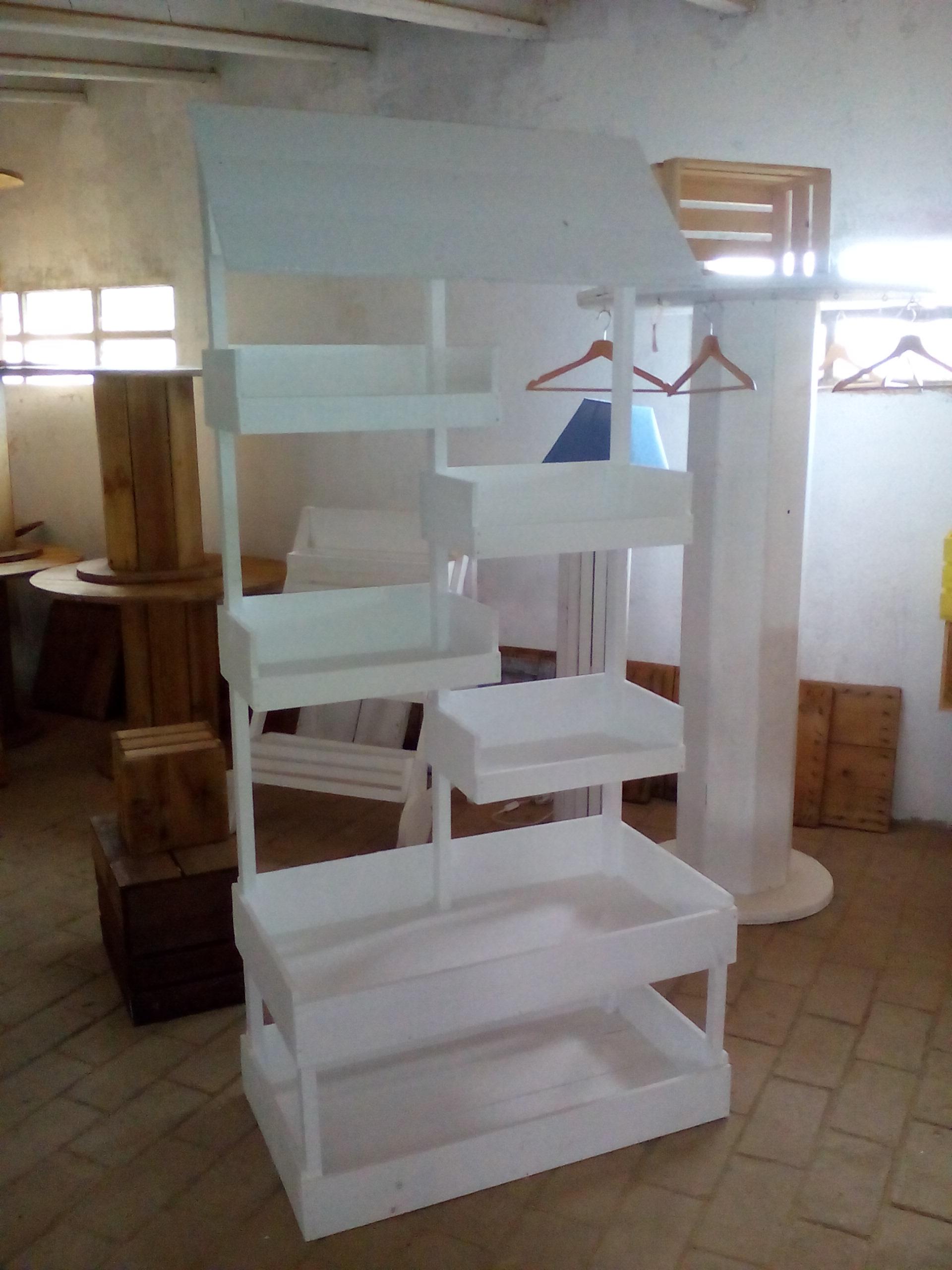 Mueble mostrador rústico blanco