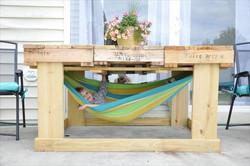 Mesa para garden con hamaca
