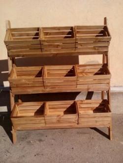Estantería madera rustica