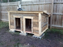 Casa doble para perro