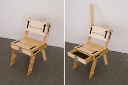 Silla con asiento modo cajón