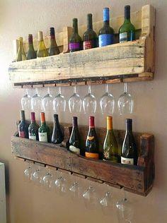 Botellero + copas