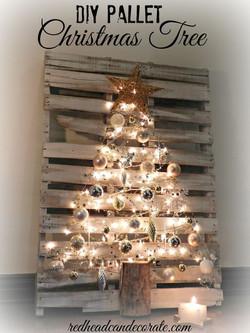Iluminación Navidad sobre palets