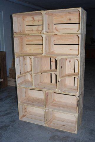 Estanterías cajas varias medidas