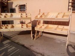 Conjunto estantes madera