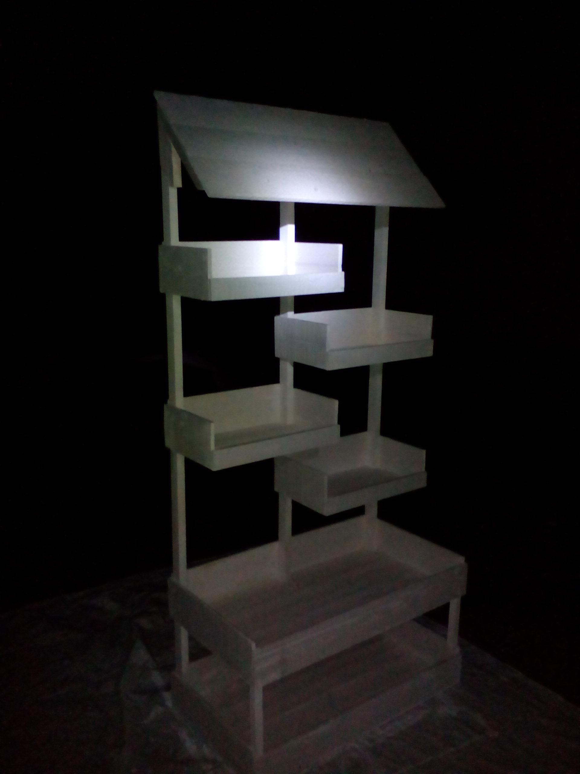 Mueble rustico blanco para panadería