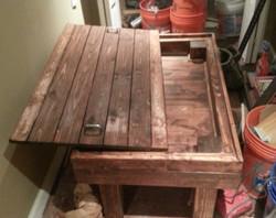 Mesa con tapa