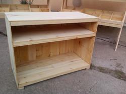 Mostrador madera rústica