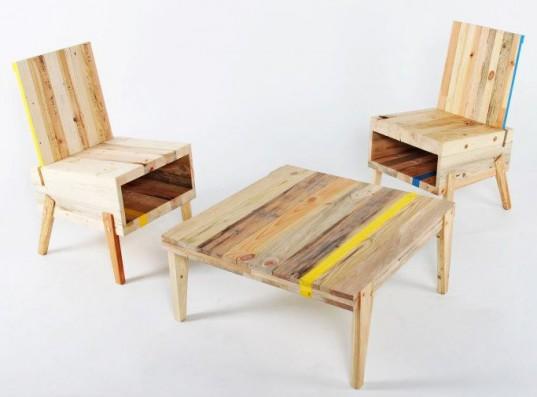 Conjunto sillas boca y mesa