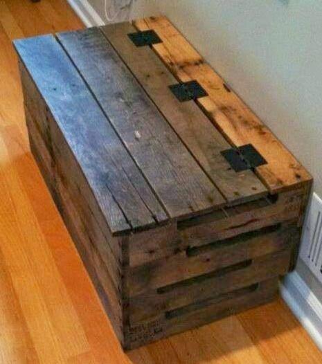 Baúl con madera reciclada