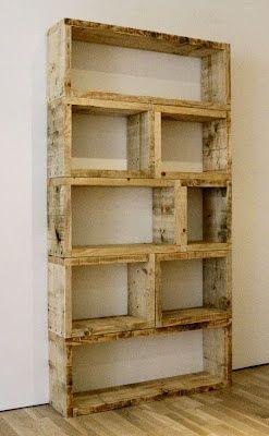 Estanteria cubital en madera rústica