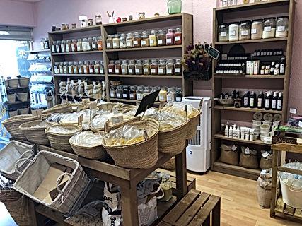 Muebles rústicos tienda herbolario