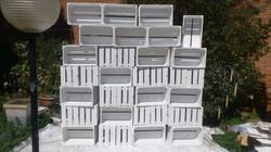 Conjunto cajas blanco
