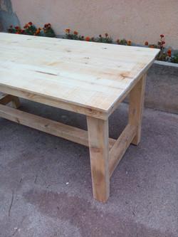 Mesa rústica madera natural
