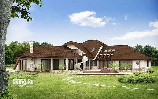 432 м2 Проект дома в скандинавском стиле